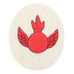 Kriegsmarine Anti Aircraft Gunner Specialist Trade Badge - red on white Thumbnail