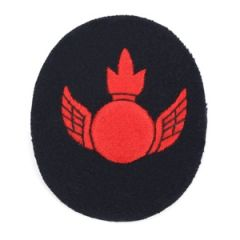 Kriegsmarine Anti Aircraft Gunner Specialist Trade Badge - Blue Backing Thumbnail