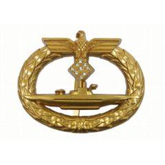 Kriegsmarine U-Boat Badge with Diamonds - Thumbnail