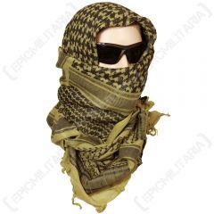 Shemagh Headscarf - Khaki and Black