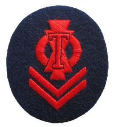 WW2 Kriegsmarine Torpedo Senior Specialist Trade Badge - blue backing
