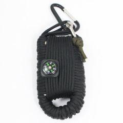 Large Paracord Survival Kit - Black - Thumbnail
