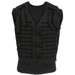 Laser Cut Tactical Vest - Black - Thumbnail