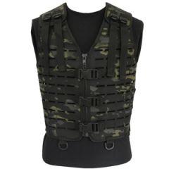 Laser Cut Tactical Vest - Black Multitarn Camo - Thumbnail