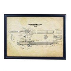US Lewis Machine Gun Framed Blueprint Thumbnail