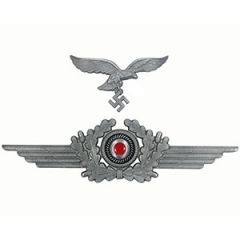 Luftwaffe Metal Cap Eagle and Wreath Set Thumbnail