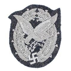 WW2 Luftwaffe Air Gunner Badge Bullion Thumbnail