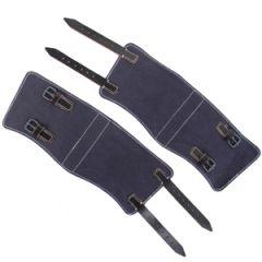 Luftwaffe Blue & Black Leather Gaiters Thumbnail