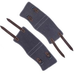Luftwaffe Blue & Brown Leather Gaiters Thumbnail