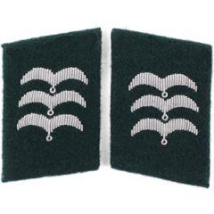 Luftwaffe Field Division Feldwebel Collar Tabs - Green