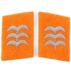 Luftwaffe Field Police Division Feldwebel Collar Tabs - Orange