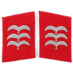 Luftwaffe Flak Division Feldwebel Collar Tabs - Red