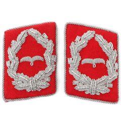 Luftwaffe Flak Division Major Collar Tabs - Red