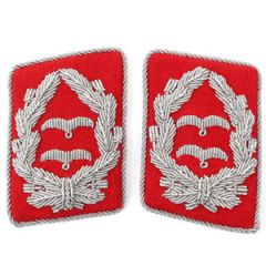Luftwaffe Flak Division Oberstleutnant Collar Tabs - Red