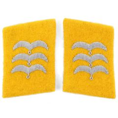 Luftwaffe Flieger Division Feldwebel Collar Tabs - Yellow