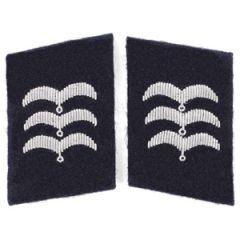 Luftwaffe Medical Division Feldwebel Collar Tabs - Dark Blue