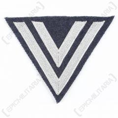 WW2 German Luftwaffe Obergefreiter Rank Chevron - Silver/Blue