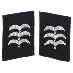Luftwaffe RLM Construction Division Feldwebel Collar Tabs - Black
