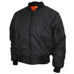 Black Teesar US MA1 Flight Jacket Thumbnail