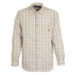 Percussion Checked Shirt - Maroon and Blue