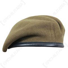 British Wool Beret - Khaki Beret