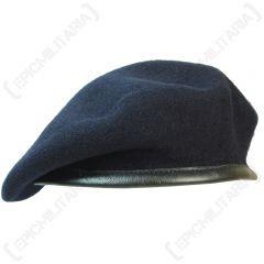 British Wool Beret - Navy Blue