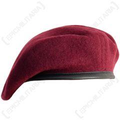 British Wool Beret - Maroon Para