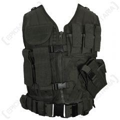 Black USMC Tactical Vest front