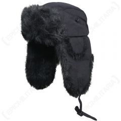 Fur and Black Canvas Hats