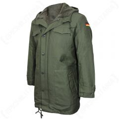 Olive German Army Parka with Liner