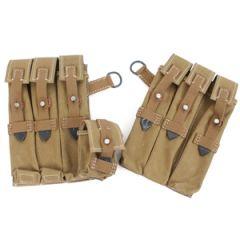 MP40 Tan Canvas Ammo Pouches (webbing straps) Thumbnail