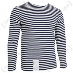 Russian Navy LONG Sleeve Top - NAVY Blue Stripes