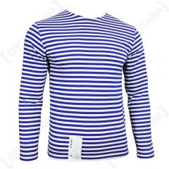 Russian Paratrooper LONG Sleeve Top - LIGHT BLUE Stripes
