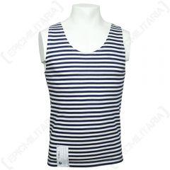 Russian Navy Blue Stripe Vest Telnyashka