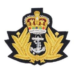Navy Peak Cap Badge - Queens Crown Thumbnail