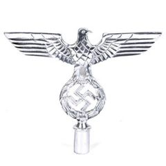 Wehrmacht Eagle Pole Top - Silver Cross