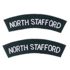 North Stafford Regiment Shoulder Titles Thumbnail