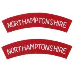 Northamptonshire Regiment Shoulder Titles Thumbnail