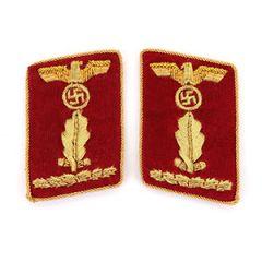NSDAP Oberabschnittsleiter Collar Tabs