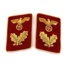 NSDAP Bereichsleiter Collar Tabs