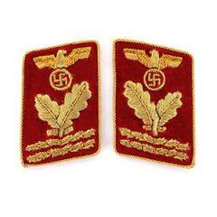 NSDAP Hauptbereichsleiter Collar Tabs