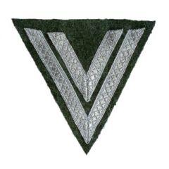 Army Obergefreiter Rank Chevron - Silver/Field Grey