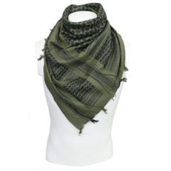 Olive and Black Cotton Shemagh - Thumbnail