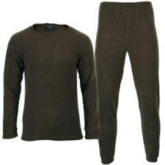 Olive Drab Round Neck Thermal Underwear Set