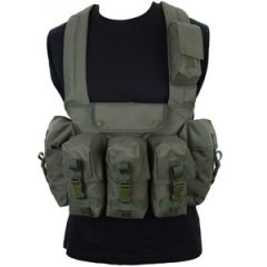 Olive Green 6 Pocket Chest Rig Thumbnail