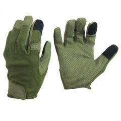 Olive Green Combat Touch Gloves - Thumbnail