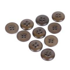 Olive Vintage Buttons - Steinnuss Hosenknopf - 1.5 cm Thumbnail