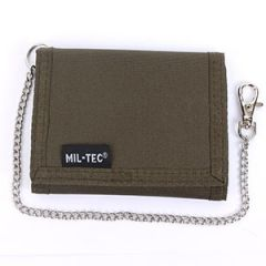 Olive Green Wallet with Security Chain Thumbnail