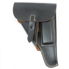 P38 Walther Soft Shell Holster - Black Leather thumb