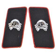Panzer EM Collar Tabs - Red Piped Thumbnail